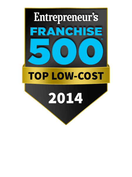 Award Winning Franchise Opportunity - Franchise 500 Ranked #45 - Top Low-Cost Franchises - 2014