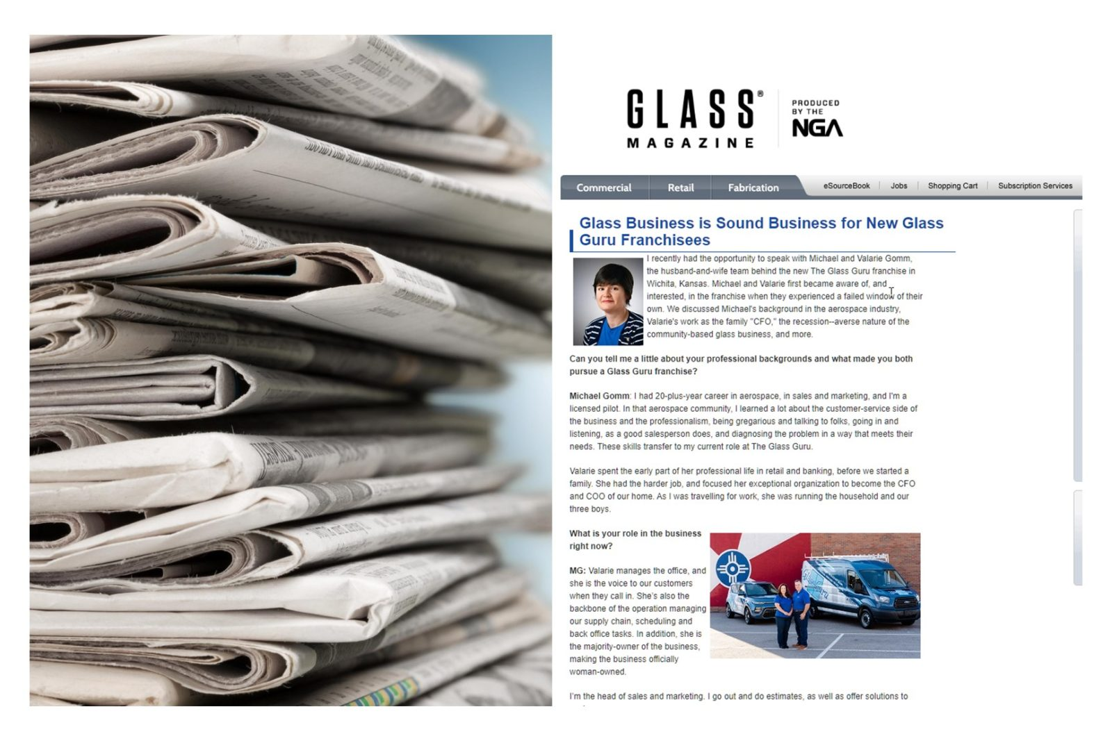 New Franchisees Featured In Glass Magazine